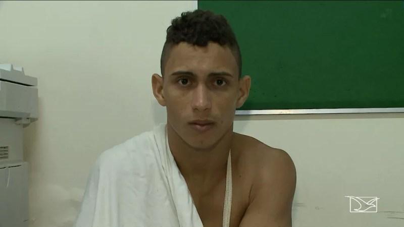 Wanderson de Morais Baldez foi preso logo após o crime. (Foto: Reprodução/TV Mirante)