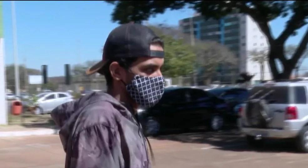 Gabriel Ribeiro, amigo de Pedro Henrique Krambeck presta depoimento para a Polícia Civil do DF  — Foto: TV Globo/Reprodução