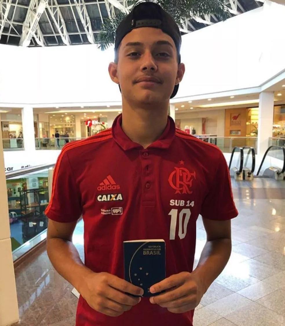 Cauan Emanuel Gomes Nunes, de 14 anos está bem e não corre risco de morte, segundo o pai. — Foto: Arquivo Pessoal