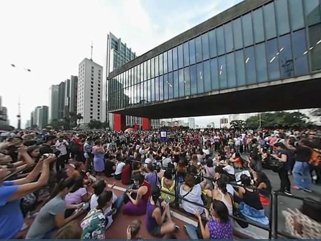 Protesto de mulheres em São Paulo, em 2017 — Foto: G1
