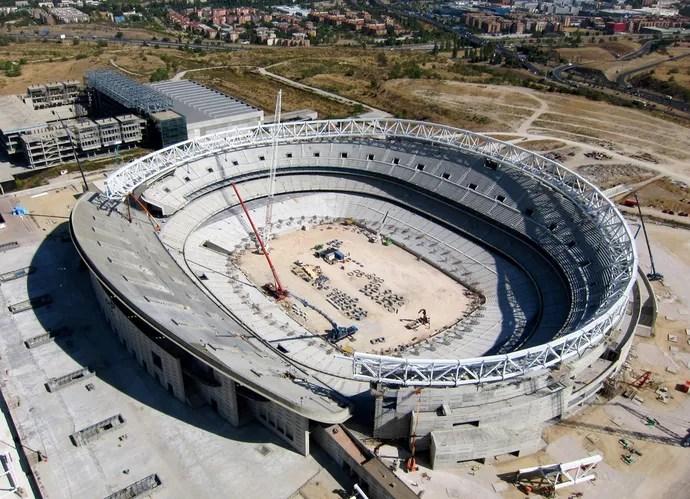 Estádio Atlético de Madrid imagem aérea (Foto: Reprodução / Site Oficial)