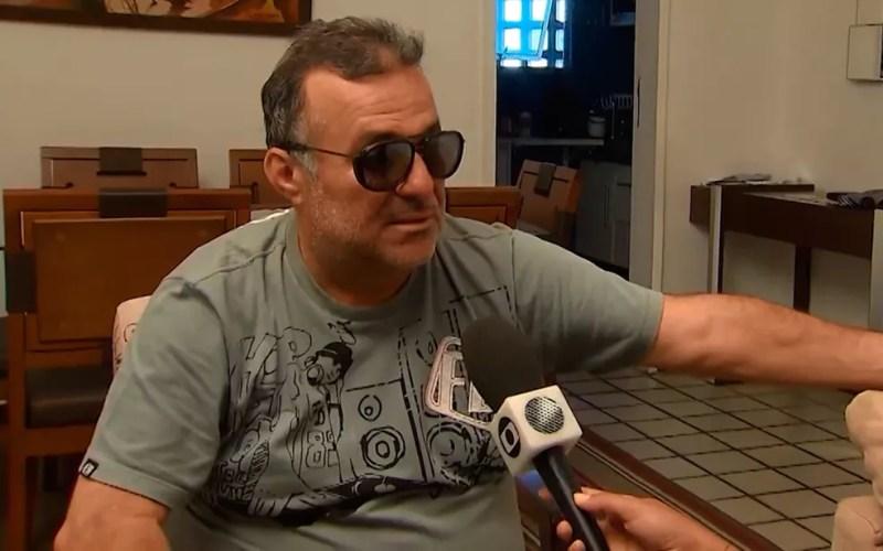 Humorista Renato Fechine negou que tenha agredido ex-namorada, em Salvador (Foto: Reprodução/TV Bahia)