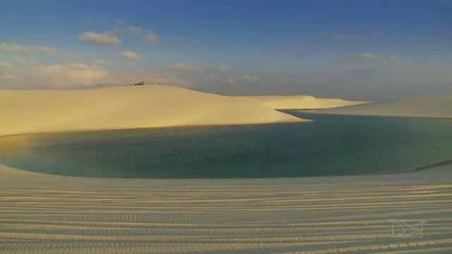 Santo Amaro do Maranhão é uma das portas de entrada para o Parque Nacional dos Lençóis Maranhenses.  (Foto: Reprodução/TV Mirante)