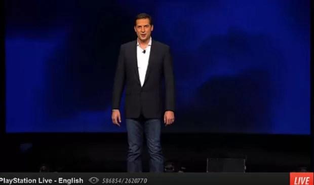 Novidades na PlayStation Network foram apresentadas por David Perry, cofundador do Gaikai. (Foto: Reprodução)