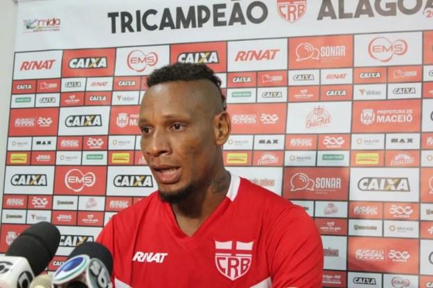 Marcão foi apresentado no Ninho do Galo (Foto: Denison Roma/GloboEsporte.com)