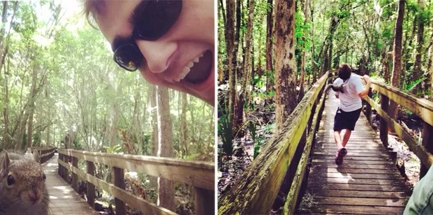 Esquilo ficou 'revoltado' após selfie e atacou americano responsável pelo retrato na Flórida (Foto: Reprodução/Imgur/Supplenupple)