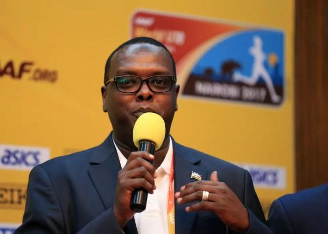Hassan Wario, ex-Ministro dos Esportes do Quênia, em 2017 — Foto: Getty Images