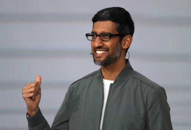 Sundar Pichai, CEO do Google, revela novidades da empresa no evento Google I/0 — Foto: Justin Sullivan / GETTY IMAGES NORTH AMERICA / AFP