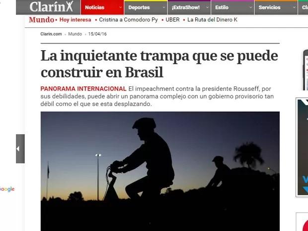 Reportagem do Clarín (Foto: Reprodução/Clarín)