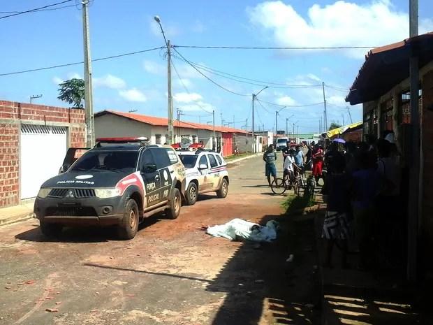 Homem foi morto a pauladas, tijoladas e pedradas em São José de Ribamar (MA) (Foto: Alessandra Rodrigues / Mirante AM)