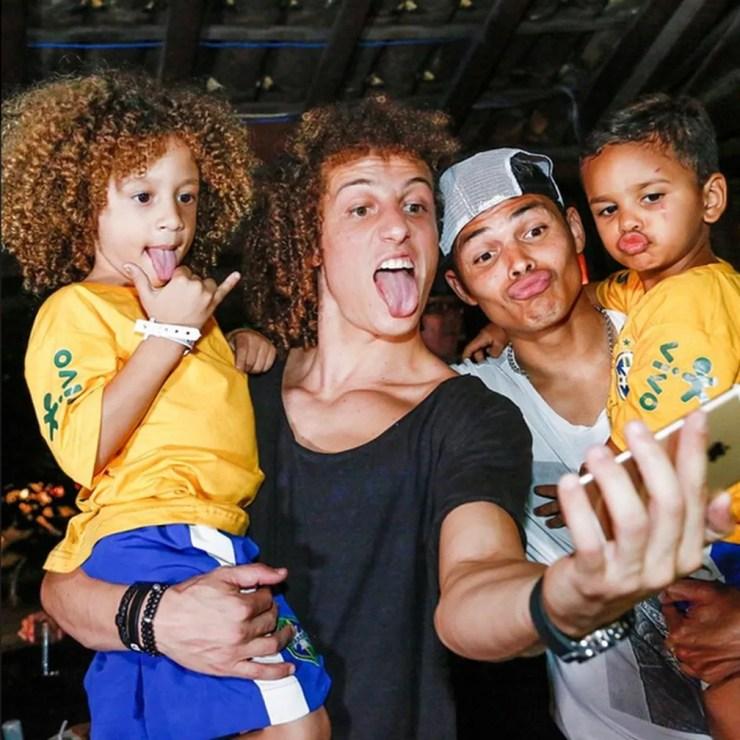 Sósias Mirins, David Luiz, Thiago Silva — Foto: Reprodução/Instagram