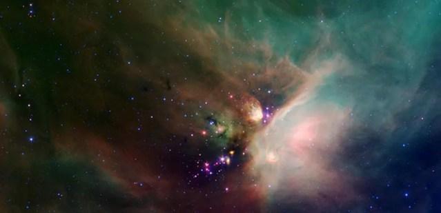 Formação de estrelas (Foto: NASA/Caltech)