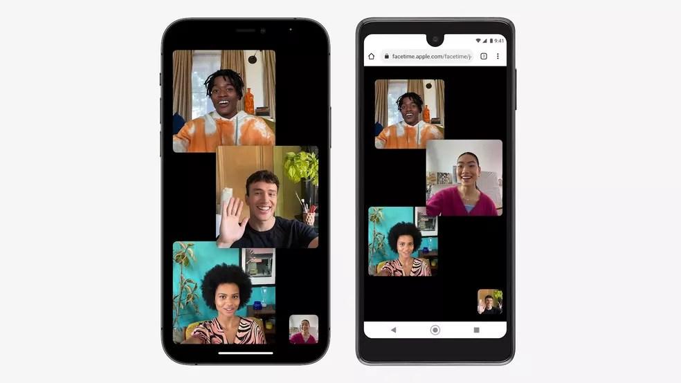 FaceTime poderá ser acessado pelo navegador no Windows e no Android — Foto: Reprodução