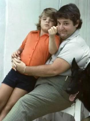Jô Soares com o seu filho Rafael (Foto: Acervo pessoal)