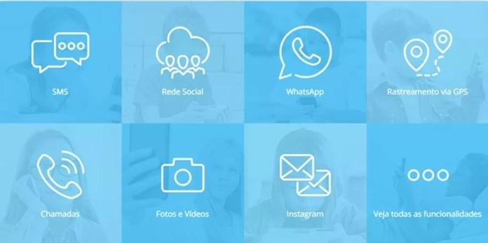 mSpy é um app que promete vigiar o celular do usuário — Foto: Reprodução/Mirella Stivani