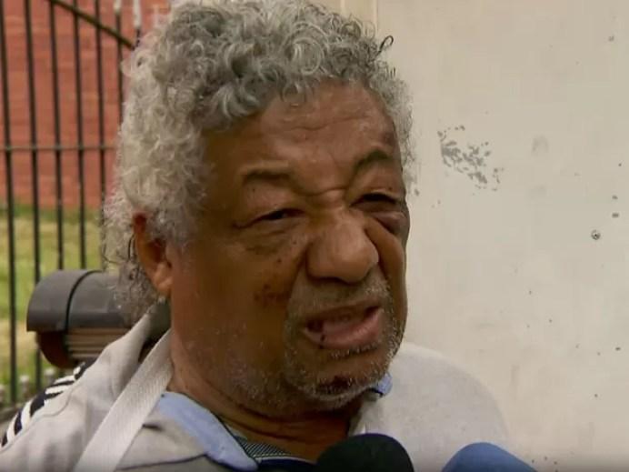 Manuel da Silva, pai do dentista morto após ser espancado em Pirituba (Foto: TV Globo/Reprodução)