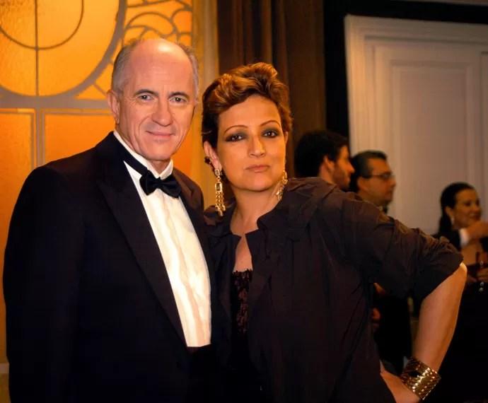 Betty Lago como Nádia (Betty Lago) ao lado de Júlio (Carlos Gregório), em A Vida Alheia, série de 2010 (Foto: Blenda Gomes/TV Globo )
