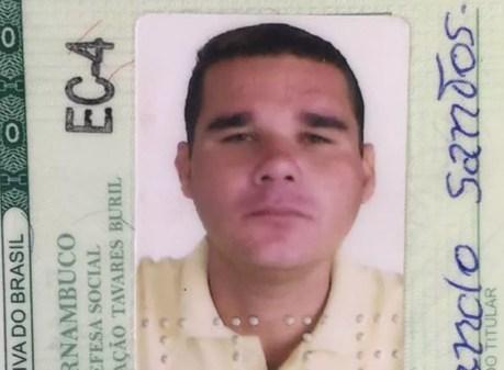 A vítima Antônio Fernando Santos de 42 anos (Foto: Divulgação / IML)