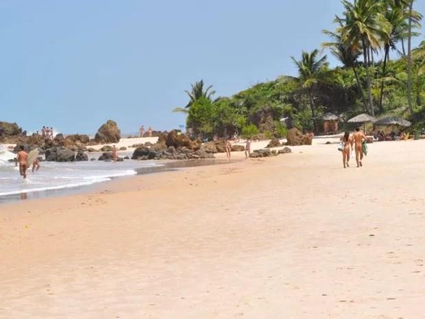 Praia de nudista Tambaba, em Conde, na Paraíba (Foto: Divulgação/Portal Brasil Naturista)