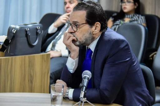 Henrique Alves depôs à Justiça Federal sobre acusações da Operação Manus na última segunda-feira (9) (Foto: Pedro Vitorino)