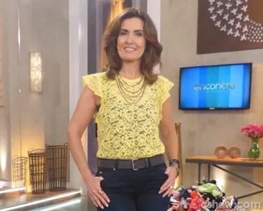 Fátima Bernardes destaque (Foto: Encontro com Fátima Bernardes/TV Globo)