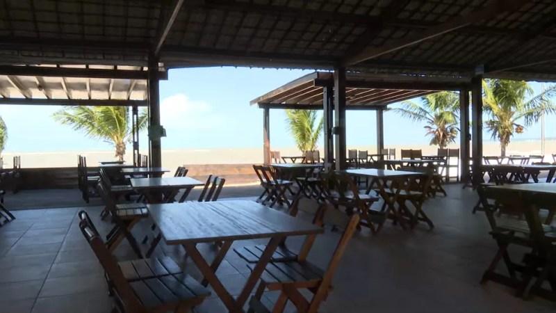 Bar na orla de João Pessoa — Foto: TV Cabo Branco/Reprodução/Arquivo