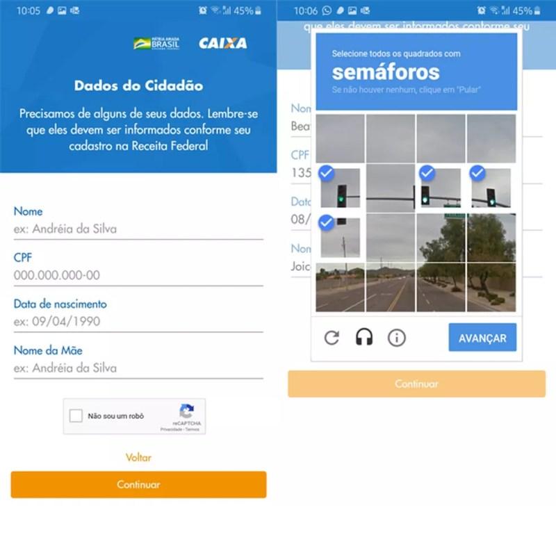 Cidadão deve informar dados pessoais para acessar benefício — Foto: Reprodução/TechTudo