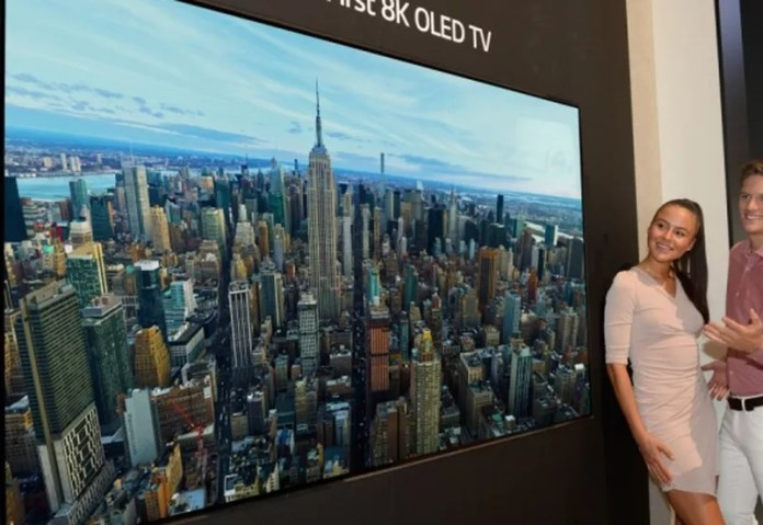 LG lança primeira TV OLED do mundo com resolução 8K — Foto: Divulgação/LG