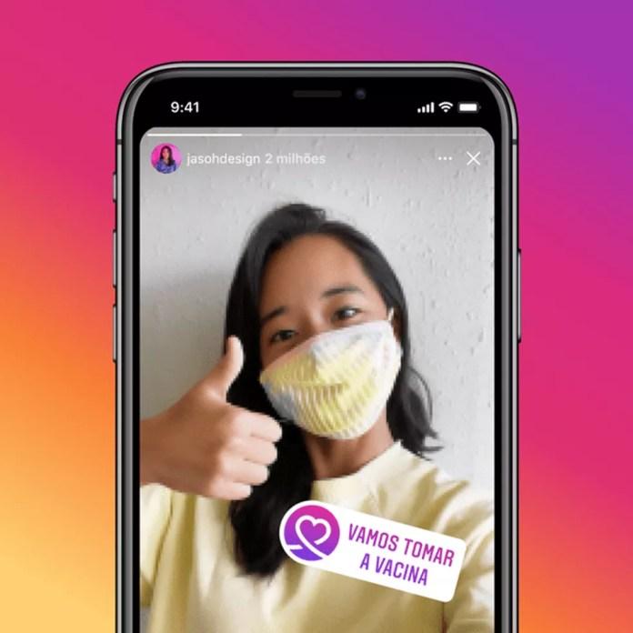 Figurinha para stories do Instagram será liberada'nas próximas semanas'. — Foto: Divulgação/Instagram