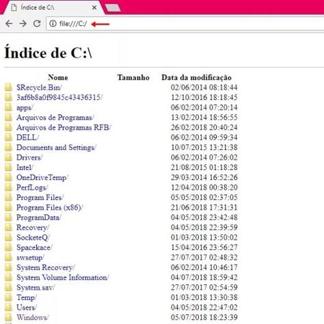 Acesse os arquivos do Windows no Chrome (Foto: Reprodução/ Taysa Coelho)