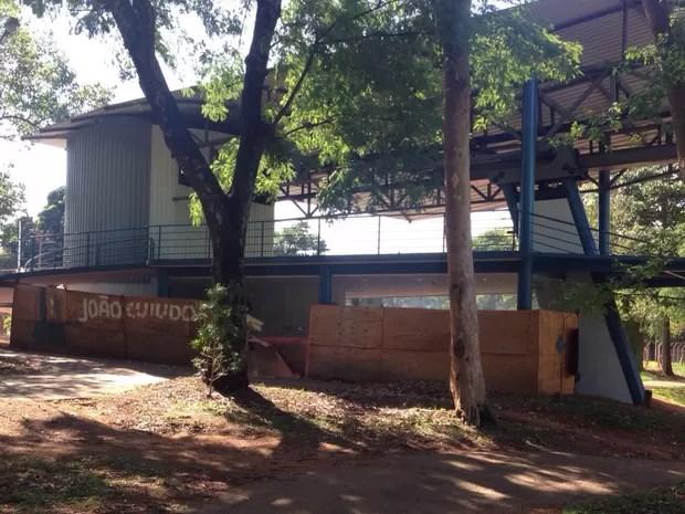 Estrutura para receber bondinho está pronta, segundo Prefeitura de Goiânia Goiás (Foto: Vanessa Martins/G1)