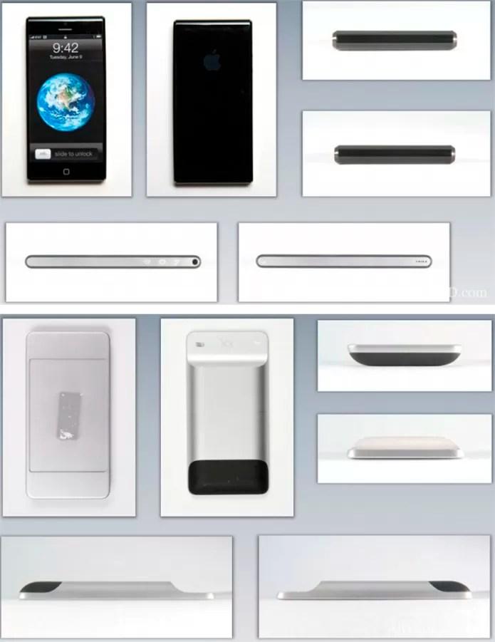 iPhone teve diversos protótipos criados antes que Apple chegasse ao design final do aparelho (Foto: Reprodução/Cult of Mac)