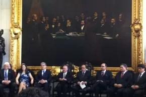 Entrega do anteprojeto do Código Penal (Foto: Nathalia Passarinho / G1)