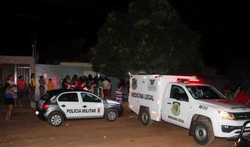 Em Mossoró, um homem morreu e outros dois foram baleados durante festa de batizado de criança (Foto: Marcelino Neto/O Câmera)