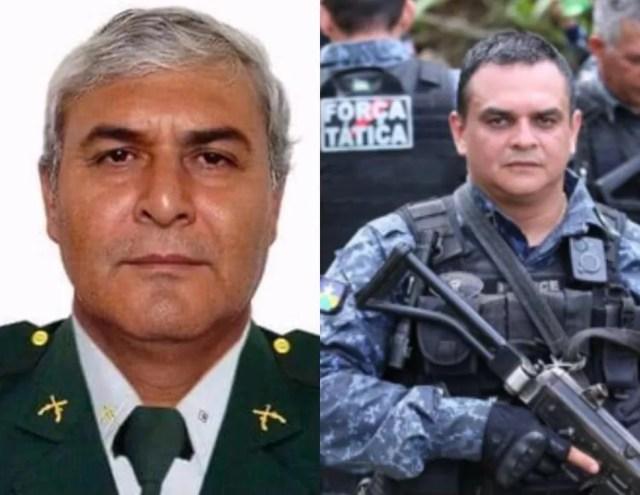 Figueiredo e Rodrigues: policiais mortos em emboscada em Rondônia — Foto: Polícia Militar/Divulgação