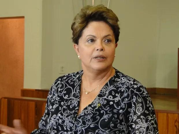 A presidente Dilma Rousseff, em visita a escola do Pronatec, em Belo Horizonte (Foto: Raquel Freitas/G1)