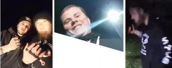 Polícia divulgou imagens de homens procurados por maus tratos a cangurus — Foto: Western Australia Police