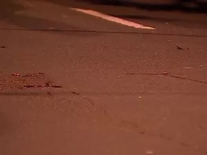 Delegado atirou em assaltante que estava armado (Foto: Reprodução/RBS TV)