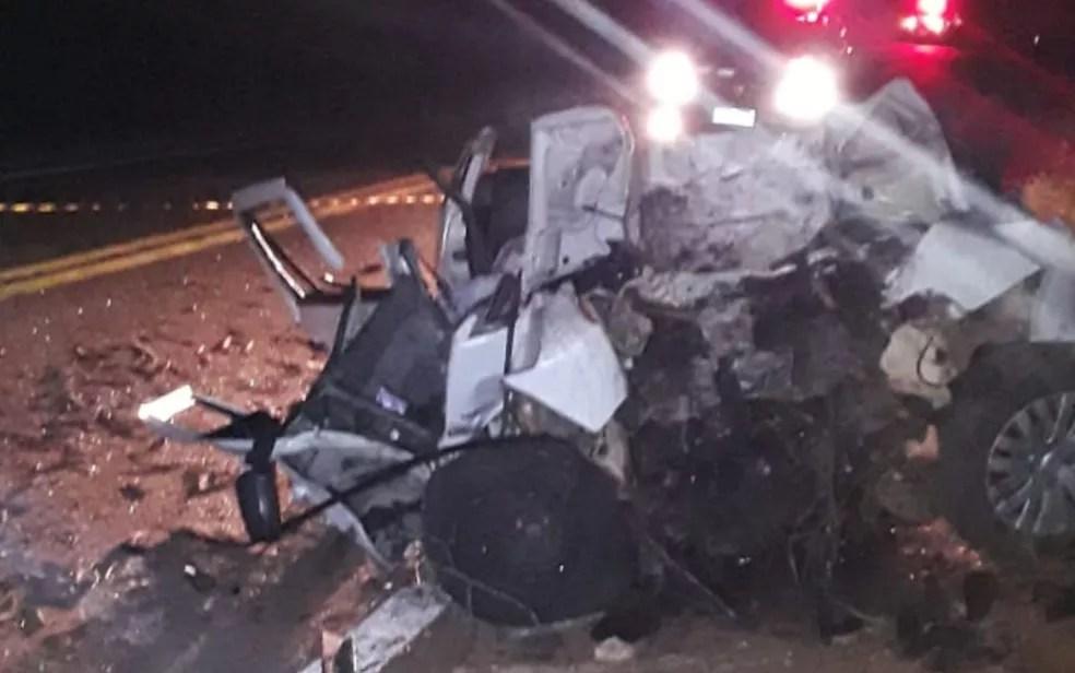 Acidente ocorreu por volta de 2 da manhã, nesta quarta-feira (12) — Foto: Divulgação/Dict