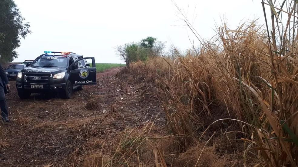 Corpo de Mariana foi encontrado em uma área de canavial na região de Ibitinga — Foto: Polícia Civil / Divulgação