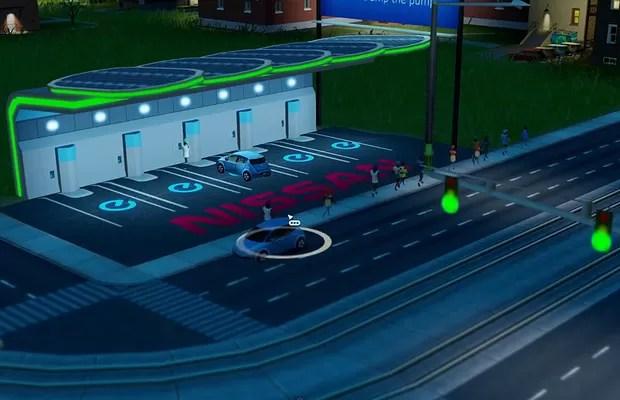 Estação de Abastecimendo do Nissan Leaf no SimCity (Foto: Reprodução)