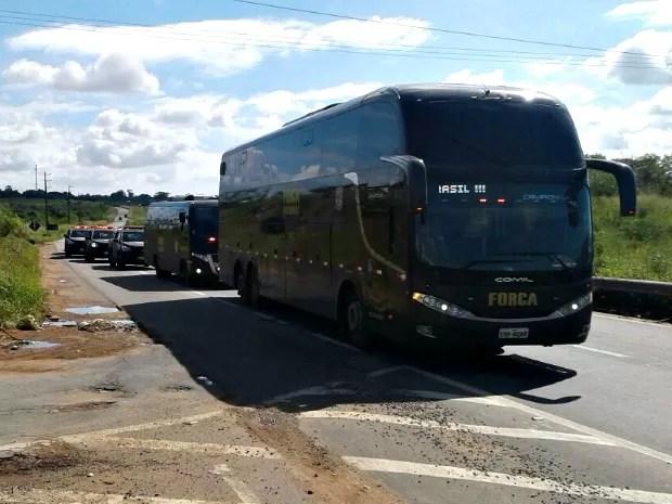Força Nacional de Segurança já está em Fortaleza (Foto: Alessandro Torres/TV Verdes Mares)