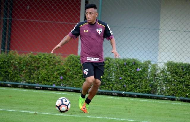 Cueva está 100% fisicamente para ajudar o São Paulo a se classificar na Sul-Americana (Foto: Érico Leonan/saopaulofc.net)