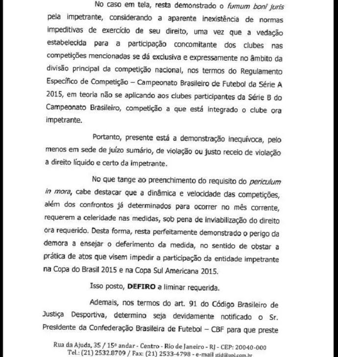 Decisão do STJD Ceará Bahia Sul-Americana (Foto: Reprodução)