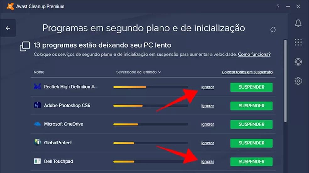 Remova da lista os itens essenciais para o PC, como drivers (Foto: Reprodução/Paulo Alves)