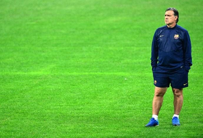 Tata Martino Treino Barcelona (Foto: Agência AFP)
