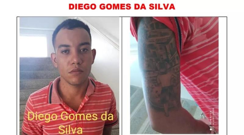 Diego Gomes é procurado após fugir de presídio em Ariquemes — Foto: Reprodução