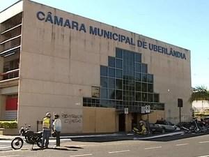 Câmara Municipal Uberlândia Reformas Empréstimo (Foto: Reprodução/TV Integração)