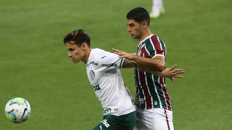 Michel Araújo está aprendendo a marcar no futebol brasileiro — Foto: Cesar Greco/Ag. Palmeiras