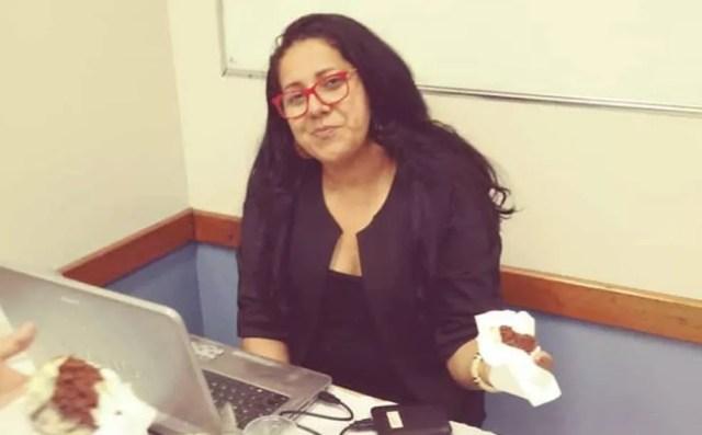 Joselita Felix em sala de aula — Foto: Facebook/Reprodução